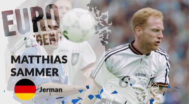 Berita motion grafis profil legenda Matthias Sammer, libero tangguh yang bawa Jerman juara Piala Eropa 1996.