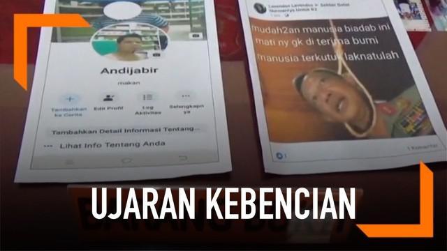 Akibat menyebarkan gambar Kapolri Tito Karnavian digantung dan menambahkannya dengan kalimat tak terpuji, seorang pria berusia 40 tahun ditangkap polisi.
