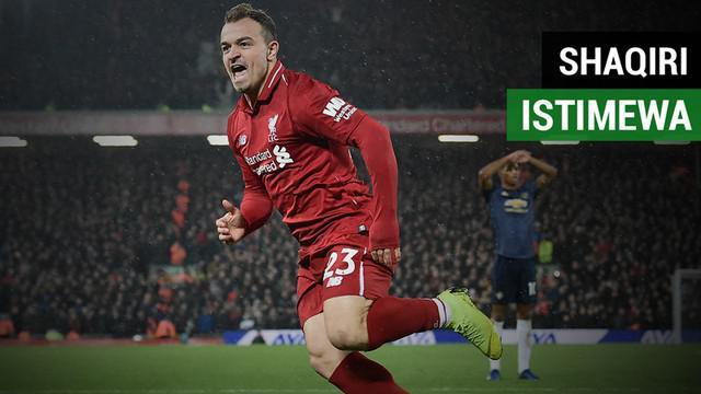 Berita video fakta-fakta menarik yang menunjukkan keistimewaan seorang Xherdan Shaqiri saat Liverpool menundukkan Manchester United 3-1, Minggu (16/12/2018).