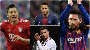 Menyambut Liga Champions musim 2019/20, terdapat sejumlah nama yang patut diperhitungkan sebagai calon kuat top scorer. Berikut 7 calon kuat peraih top scorer Liga Champions musim ini. (Kolase foto AFP)