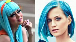 Gaya mantan personel Duo Racun, Janeta Janet yang colorful memunculkan anggapan ia mengikuti gaya Katy Perry. (Istimewa)