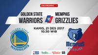 Jadwal NBA, Golden State Warriors Vs Memphis Grizzlies. (Bola.com/Dody Iryawan)