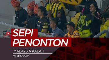 Berita video Malaysia kalah dari Singapura 0-1 pada semifinal Airmarine Cup 2019 di Stadion Nasional Bukit Jalil, Kuala Lumpur, yang sepi penonton, Rabu (20/3/2019).