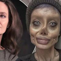 Inilah Sahar Tabar, perempuan asal Iran yang katanya telah menjalani 50 kali operasi plastik supaya mirip Angelina Jolie. (Foto: Mirror.co.uk)