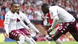 Setan Merah dipaksa menyerah dari Aston Villa lewat gol semata wayang yang dicetak oleh Kortney Hause pada menit 88. (AP/Jon Super)