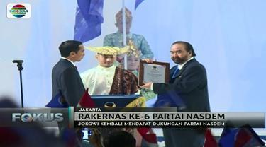 Ini pidato Jokowi saat resmi mendapat dukungan dari Partai Nasdem untuk maju di Pilpres 2019 mendatang.