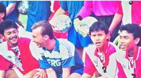 Agung Setyabudi ketika membela Timnas Indonesia menghadapi Sampdoria dalam laga persahabatan. (Bola.com/Vincentius Atmaja)