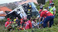 Kecelakaan bus pariwisata di Portugal, 28 orang tewas (AFP/Rui SIlva)