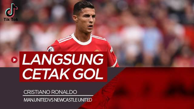 Berita video TikTok Bola.com, aksi-aksi Debut Cristiano Ronaldo saat Manchester United Vs Newcastle