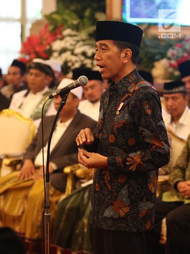 Presiden Jokowi Silaturahmi Bersama Ratusan Kiai dan Habib