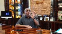 Ketua Asprov PSSI Jatim sekaligus Ketua Komite Ad Hoc Integrity PSSI, Ahmad Riyadh. (Bola.com/Zaidan Nazarul)