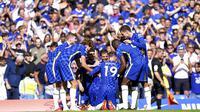 Gol-gol kemenangan Chelsea pada laga pekan pertama Premier League musim ini dicetak oleh Marcos Alonso, Christian Pulisic, dan Treyoh Chalobah. (Foto: AP/Tess Derry)