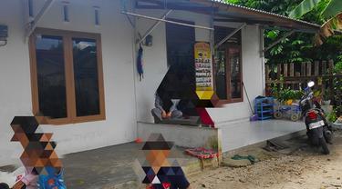 Rumah kontrakan terduga teroris di Pekanbaru yang digrebek Densus 88 Mabes Polri.