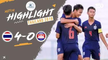 Berita video Thailand masih terus meraih kemenangan di Grup B Piala AFF U-15 2019 setelah mengalahkan Kamboja 4-0, Kamis (1/8/2019).