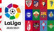 Ilustrasi La Liga Musim 2020/2021 - Logo Klub (Bola.com/Adreanus Titus)