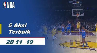 Berita Video 5 aksi terbaik 20 November NBA 2019-2020