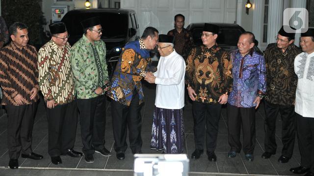 Antar Undangan Pelantikan, Pimpinan MPR Datangi Kediaman Ma'ruf Amin