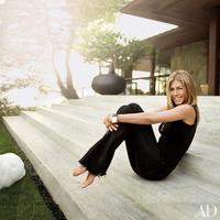 Rumah Jennifer Aniston di Beverly Hills. (Foto: Architectural Digest)