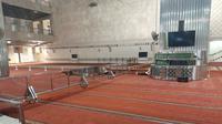 Masjid Istiqlal menyiapkan saf khusus difabel untuk salat Idul Adha. (Liputan6.com/ Yopi Makdori)