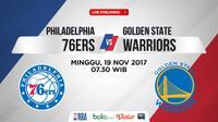 Golden State Warriors Vs Philadelphia 76ERS_2 (Bola.com/Adreanus Titus)