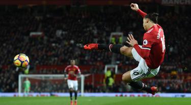 Pemain Manchester United Zlatan Ibrahimovic