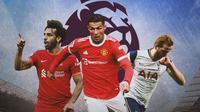 Premier League - Mohamed Salah, Cristiano Ronaldo, Harry Kane (Bola.com/Adreanus Titus)