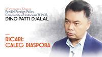 Wawancara khusus bersama pendiri dan penggagas Foreign Policy Community Indonesia (FPCI), Dino Patti Djalal, pada Rabu, 20 Maret 2019 di Bengkel FPCI, Karet, Jakarta.