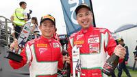 Duet Rio Haryanto/David Tjiptobiantoro T2 Motorsports membawa pulang angka pada seri empat Blancpain GT World Challenge Asia di Sirkuit Internasional Chang, Buriram. (Dok)
