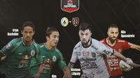 Piala Menpora - PS Sleman Vs Bali United - Irfan Bachdim, Kim Kurniawan, Stefano Lilipaly, Ilija Spasojevic (Bola.com/Adreanus Titus)