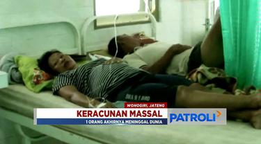 Sebanyak 40 warga Baturetno, Wonogiri, keracunan nasi kotak acara kenduri selamatan 40 hari orang meninggal. Satu di antaranya meninggal dunia.