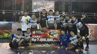 Kerambah Futsal berhasil menjadi yang terbaik di final area round Jakarta Super Soccer Futsal Battle 2018 yang digelar di Lapangan Blok S, Jakarta Selatan, Minggu (16/9/2018). (Istimewa)