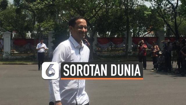 Keputusan besar Nadiem Makarim yang mundur dari Gojek untuk ke kabinet Jokowi turut menyita perhatian dunia melalui sejumlah pemberitaan media asing.