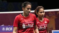 Anggia Shitta Awanda/Ni Ketut Mahadewi Istarani menjadi penentu kemenangan tim putri Indonesia saat mengalahkan India 3-1 pada perempat final Kejuaraan Bulutangkis Asia Beregu 2018 di Alor Setar, Jumat (9/2/2018). (PBSI)