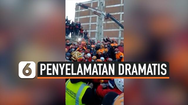 thumbnail evakuasi korban gempa turki