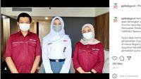 Qyara Maharani Putri, siswi kelas XI SMA 1 Garut, Jawa Barat, terpilih sebagai Pembawa Baki Paskibraka Nasional 2021 pada peringatan HUT ke-76 RI di Istana Merdeka, 17 Agustus 2021, sore hari (Foto: Instagram PPI Garut)