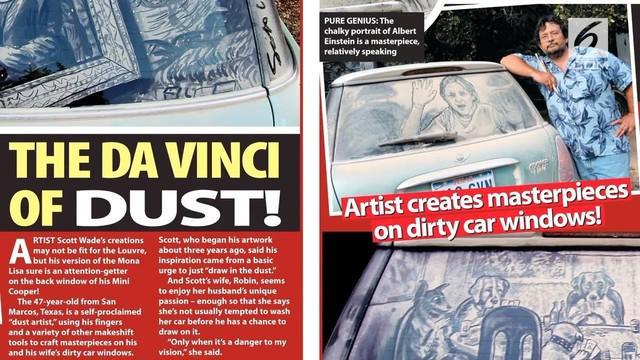 Seorang seniman asal Amerika mengubah debu menjadi karya seni yang luar biasa.