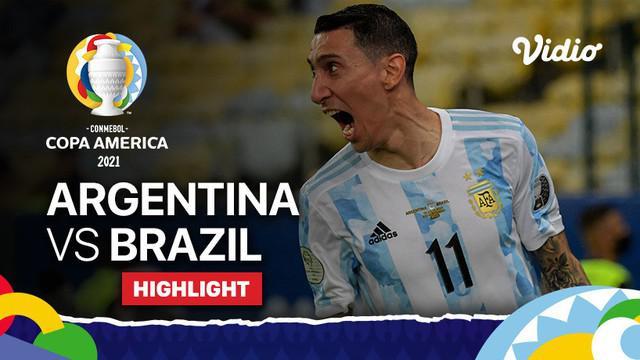 Berita video highlights Copa America 2021, pertandingan antara Argentina melawan Brasil, Minggu (11/7/2021) pagi WIB.