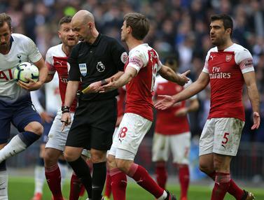 FOTO: Bermain di Wembley, Arsenal Tahan Imbang Tottenham