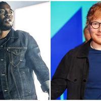 Kendrick Lamar-Ed Sheeran. (AP Exchange/Amy Harris/Invision Christopher Polk/GETTY IMAGES NORTH AMERICA/AFP)