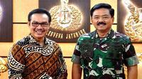 Kepala BKKBN Hasto Wardoyo melakukan audiensi dengan Panglima TNI Marsekal TNI Hadi Tjahjanto di Markas Besar TNI, Cilangkap, Jakarta Timur pada Rabu (15/1/2020). (Dok Badan Kependudukan dan Keluarga Berencana Nasional/BKKBN)