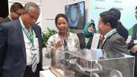 """Menteri BUMN Rini Soemarno mengunjungi the """"1st Pacific Exposition"""" di SkyCity Convention Center, Auckland, Selandia Baru pada Jumat (12/07/2019)."""