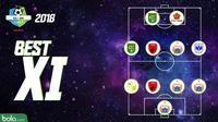 Cover Best IX Liga 1 2018 (Bola.com/Adreanus Titus)