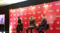 David Beckham (tengah) kembali mengunjungi Indonesia. (Liputan6.com/Thomas)