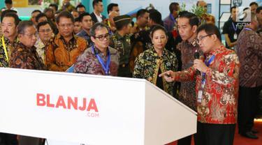 Usai Resmikan Pembukaan, Jokowi Lihat Pameran IBD Expo 2017