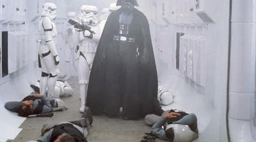 Darth Vader di Star Wars: Episode IV - A New Hope. (Lucas FIlms/ 20th Century Fox)