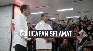 Prabowo Subianto akhirnya mengucapkan selamat kepada Joko Widodo atas ditetapkannya Jokowi-Ma'ruf sebagai Presiden dan Wakil Presiden 2019-2024.