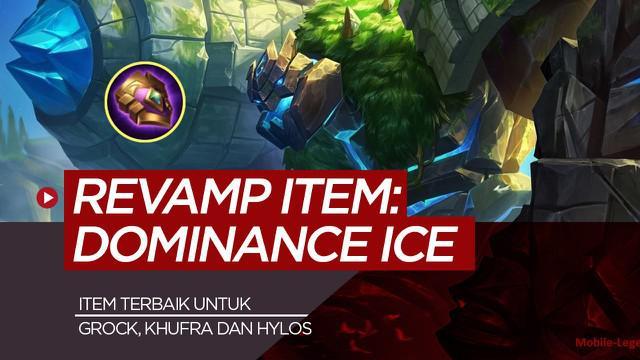 Berita motion grafis Dominance Ice, item Mobile Legends yang berguna untuk Grock, Khufra dan Hylos.