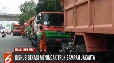 Dinas Perhubungan Kota Bekasi berharap agar seluruh pengemudi truk sampah DKI Jakarta melengkapi surat-surat kendaraannya.