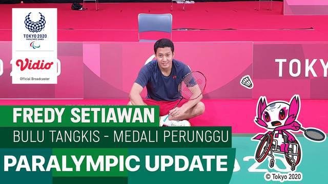 Berita video atlet Indonesia, Fredy Setiawan, meraih medali perunggu di cabang olahraga bulutangkis tunggal putra kategori SL4 di Paralimpiade Tokyo 2020, Minggu (5/9/2021) pagi hari WIB.