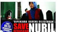 Petisi gerakan menyelamatkan Ibu Nuril di laman Change.org. (Foto: SAFEnet/www.change.org)